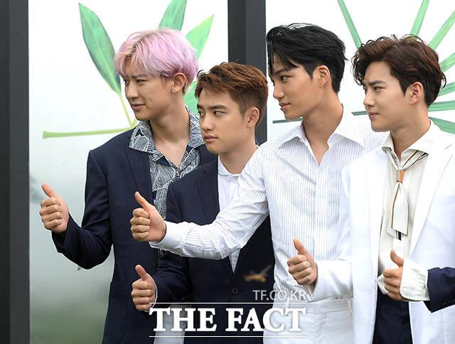 EXOが18日午前、ソウル市内でおこなわれた4thフルアルバム「THE WAR」の記者会見に出席した。