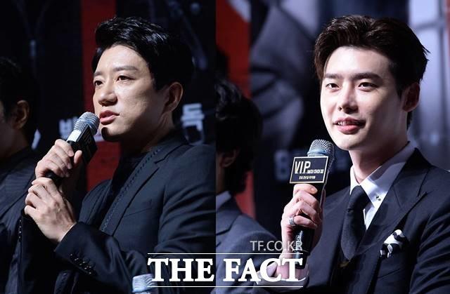 俳優キム・ミョンミン(左)、イ・ジョンソク。|THE FACT DB