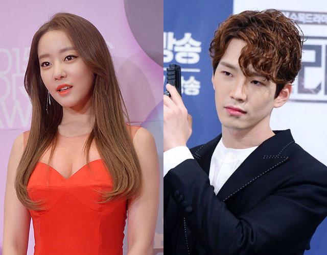 元RAINBOW ウリと俳優のコ・ユン(右)が熱愛報道を否定した。