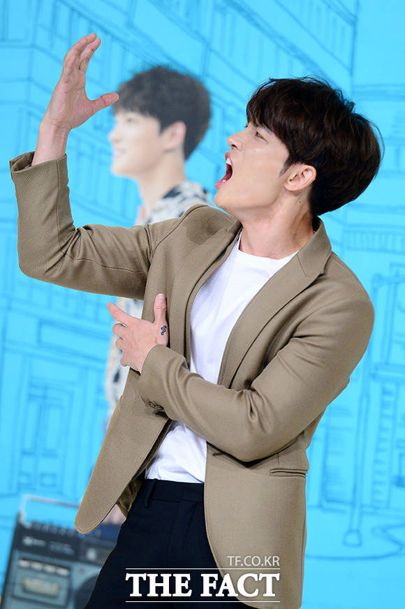 JYJのジェジュンが7日午後、KBS2TVの新水木ドラマ「マンホール」の制作発表会に出席した。
