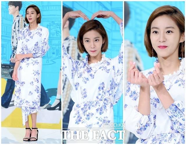 7日、ソウル市内で開催されたドラマ「マンホール-不思議の国のピル」の制作発表会に、ユイが参加。