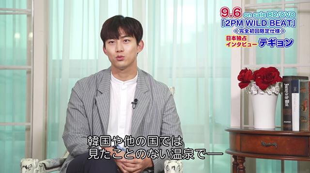 9月6日発売「2PM WILD BEAT」特典DVDより先行公開!:テギョン 日本独占インタビュー映像より