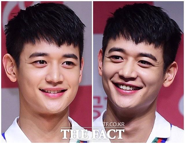 SHINeeのミンホが、24日に行われたJTBCのウェブドラマ「気がつけば18」制作発表会に出席した。