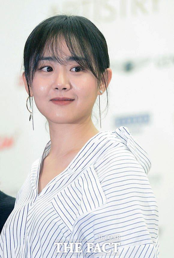 女優のムン・グニョンが11日、ソウルで開かれた「第22回釜山国際映画祭」の公式記者会見に出席した。