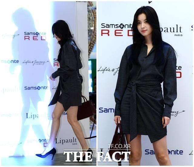 14日午後、ソウル・ロッテ百貨店チャムシル店に女優のハン・ヒョジュが登場。