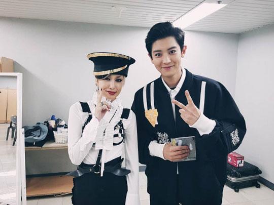 EXOのチャンヨルと中島美嘉。 チャンヨルのInstagram