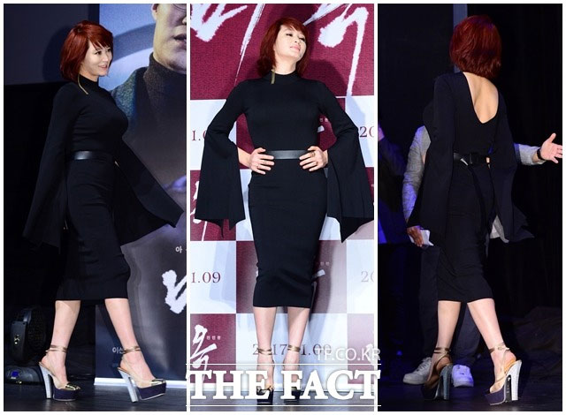 女優のキム・ヘスが10日午前、ソウル・江南区で開かれた映画「ミオク」の制作発表会に出席した。