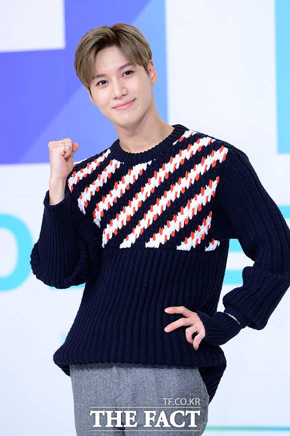 人気ボーイズグループSHINeeのメンバー・テミンが25日午後、ソウルで開かれたKBS2TVの新バラエティ・アイドルリブートプロジェクト「The Unit」の制作発表会に出席した。
