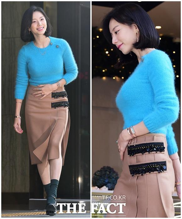 ジュエリーブランド・Monica Vinader(モニカ・ヴィナダー)の韓国モデルを務める女優パク・スジンが、9日、ソウルで行なわれた同ブランドのイベントに出席した。|撮影:ペ・ジョンハン