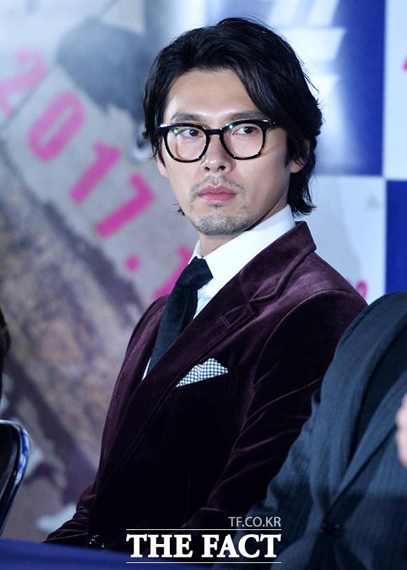 俳優のヒョンビンが10日、ソウルで開かれた映画「クン」の制作発表会に出席した。