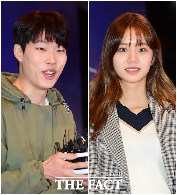 交際中のリュ・ジュンヨルとヘリが20日、ソウル・江南で開かれた映画「クン」試写会に参席した。