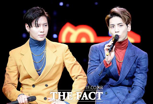 SHINeeのテミン(左)が「2017 KBS歌謡大祝祭」を欠席する。