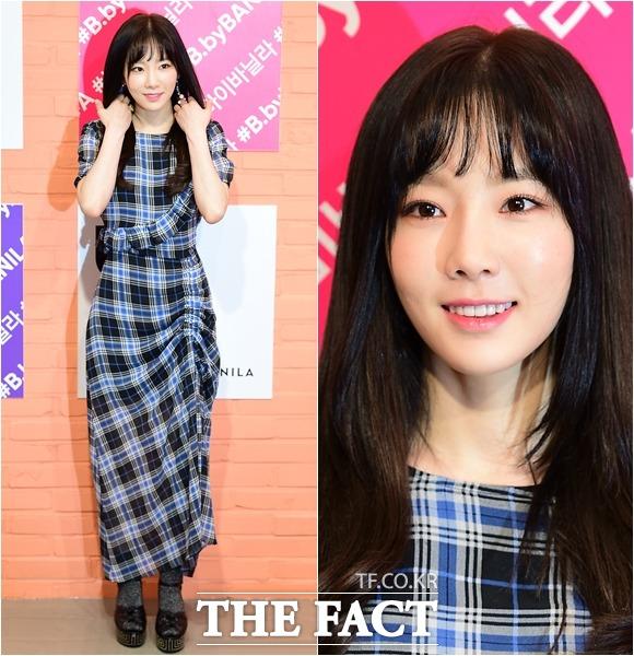 少女時代のテヨンが9日、ソウル・江南区のCOEXで開かれたB.by BANILAのファンサイン会に参加した。
