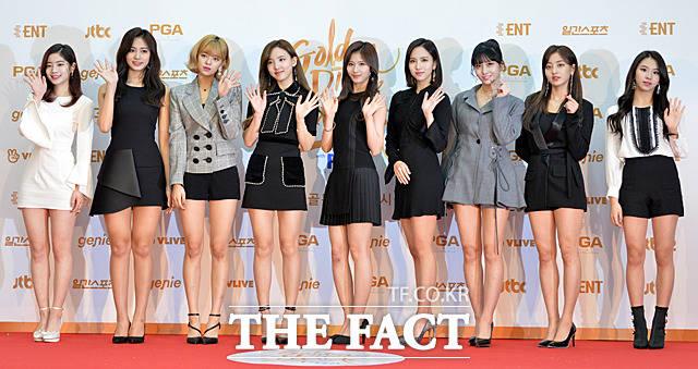 TWICEが10日、韓国・高陽(コヤン)市で行われた「第32回ゴールデンディスクアワード」に出席した。