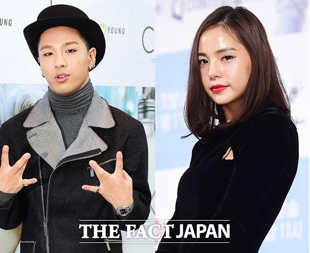 最近結婚を発表したBIGBANGのSOLと女優のミン・ヒョリン(右)。