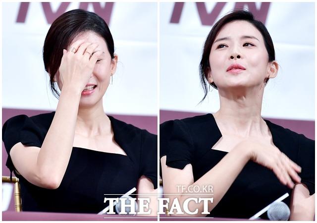 女優のイ・ボヨンが18日午後、ソウルで開かれたtvN新水木ドラマ「Mother」の制作発表会に出席した。