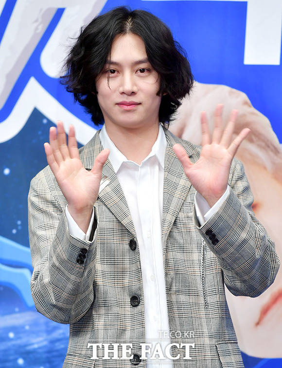 SUPER JUNIORのヒチョルが23日午後、ソウルで行われたXtvNの新バラエティ番組「SUPER TV」制作発表会に出席した。