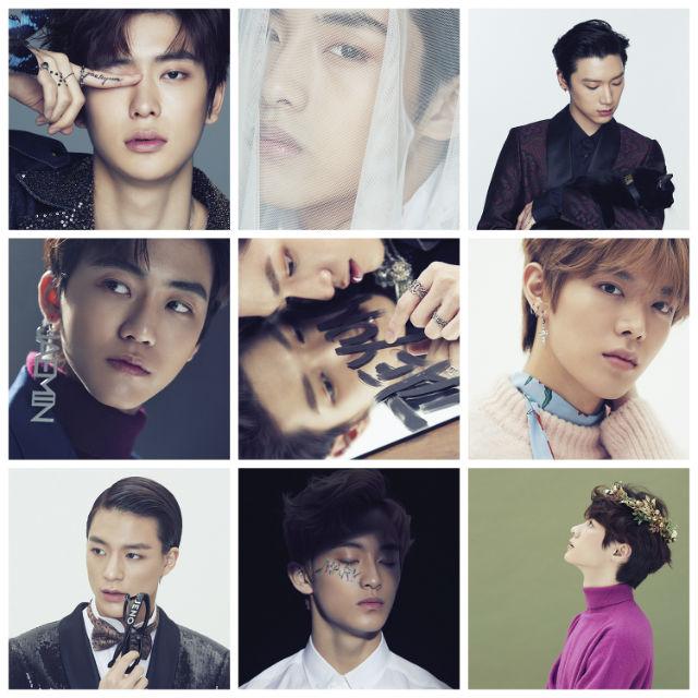 左上からジェヒョン、ウィンウィン、テン、ジェミン、テヨン、ユウタ、ジェノ、マーク、クン ©S.M.Entertainment