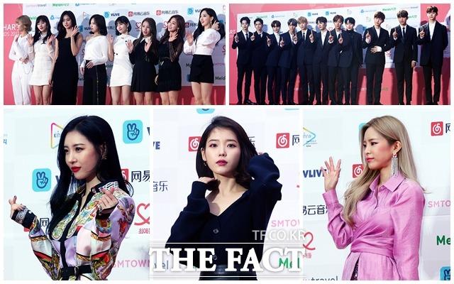 TWICE、Wanna One、Heize、IU、ソンミらが14日にソウル・松坡(ソンパ)区の蚕室室内体育館で行われた「第7回GAON CHART MUSIC AWARDS」に登場した。