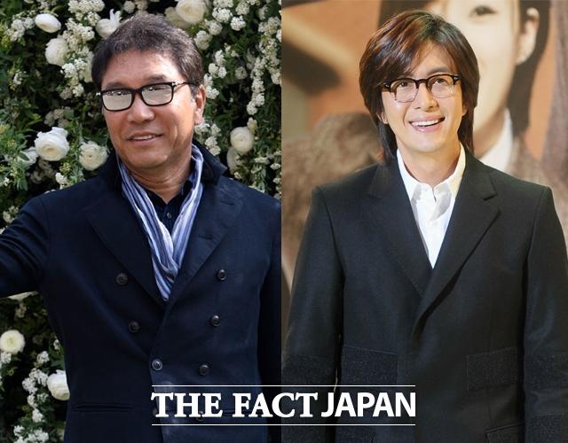 SMエンターテイメントが韓国最大の俳優専門マネジメント企業であるキーイースト(KEYEAST)を買収した。写真はSMエンターテイメントのイ・スマン会長(左)とキーイーストのCSO ペ・ヨンジュン。
