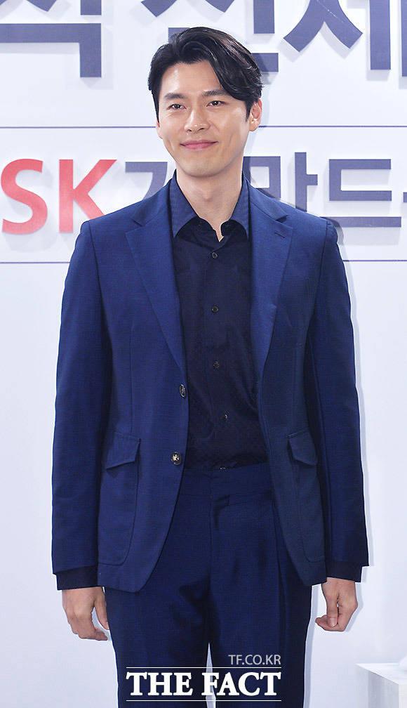 내俳優のヒョンビンが14日午後、ソウルで行われたSKマジックの新製品発売記念イベントに出席した。