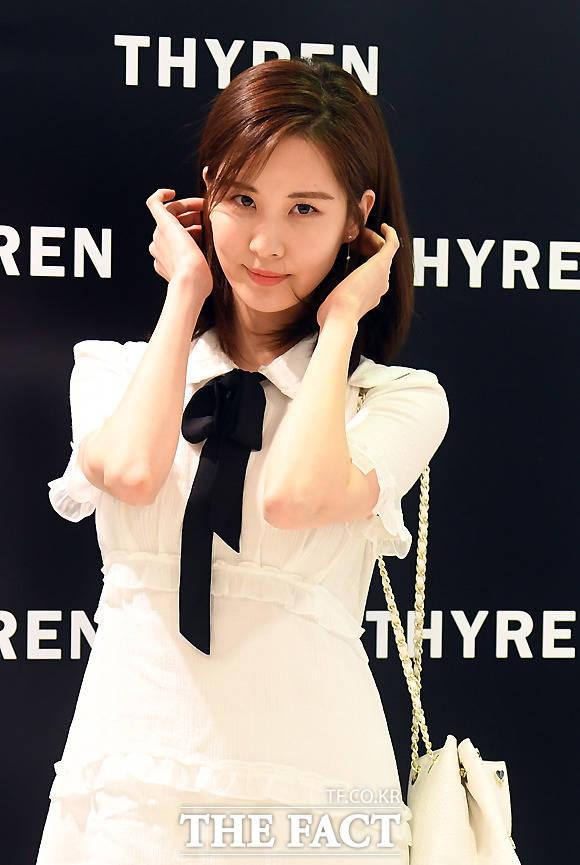 少女時代のソヒョンが6日、ソウル・明洞に位置する女性ファッションブランドTHYRENの店舗を訪れた。