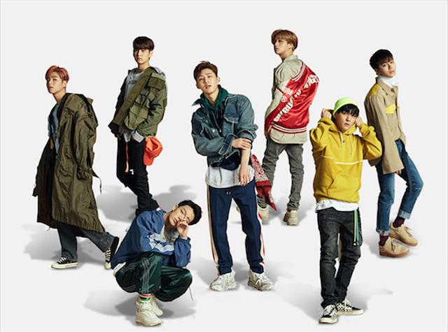 7人組ボーイズグループ、iKON(アイコン)。