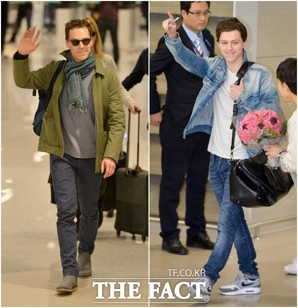 世界的な俳優のベネディクト・カンバーバッチとトム・ホランドが映画「アベンジャーズ/インフィニティ・ウォー」のプロモーションのため、11日午後、韓国を訪問した。