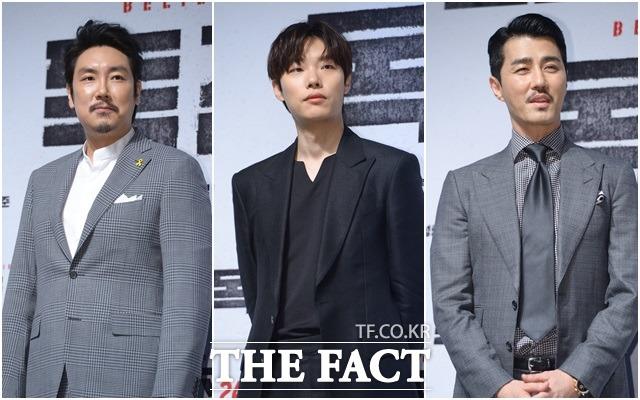 俳優のチョ・ジヌン、リュ・ジュンヨル、チャ・スンウォンが19日午前、ソウルで行われた映画「毒戦」の制作報告会に出席した。