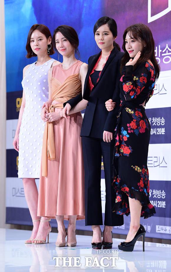 OCNオリジナルドラマ「ミストレス」の主役たちが25日午後、ソウルで行われた同ドラマの制作発表会に出席した。写真は左からク・ジェイ、シン・ヒョンビン、ハン・ガイン、チェ・ヒソ。