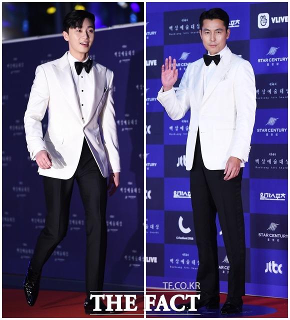 俳優のパク・ソジュンとチョン・ウソンが3日、ソウルで行われた「第54回百想芸術大賞」に参席した。