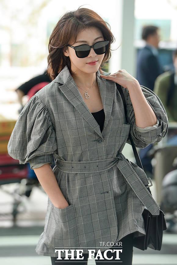 女優ハ・ジウォンがファッショングラビア撮影のために13日、モスクワへ向かった。 撮影:キム・セジョン