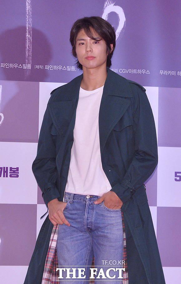 俳優のパク・ボゴムが14日、ソウルで行われた映画「バーニング」のVIP試写会に出席した。