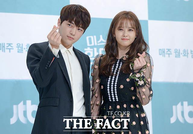 INFINITE エルとAraが21日午後、ソウルで行われたJTBCの新ドラマ「ミス・ハンムラビ」の制作発表会に出席した。