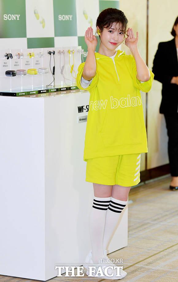 歌手兼女優のIUが23日午前、ソウルで行われたSony Koreaの新製品イベントに出席した。