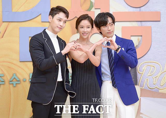 ファン・ジョンウム(中央)、ナムグン・ミン(右)、チェ・テジュンが23日午後、ソウルで行われた新ドラマ「フンナムジョンウム(原題)」の制作発表会に出席した。