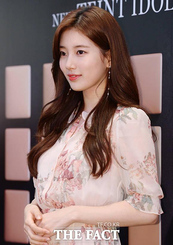 「ランコム」の韓国市場ブランドモデルを務めるスジ |撮影:イ・ソナ