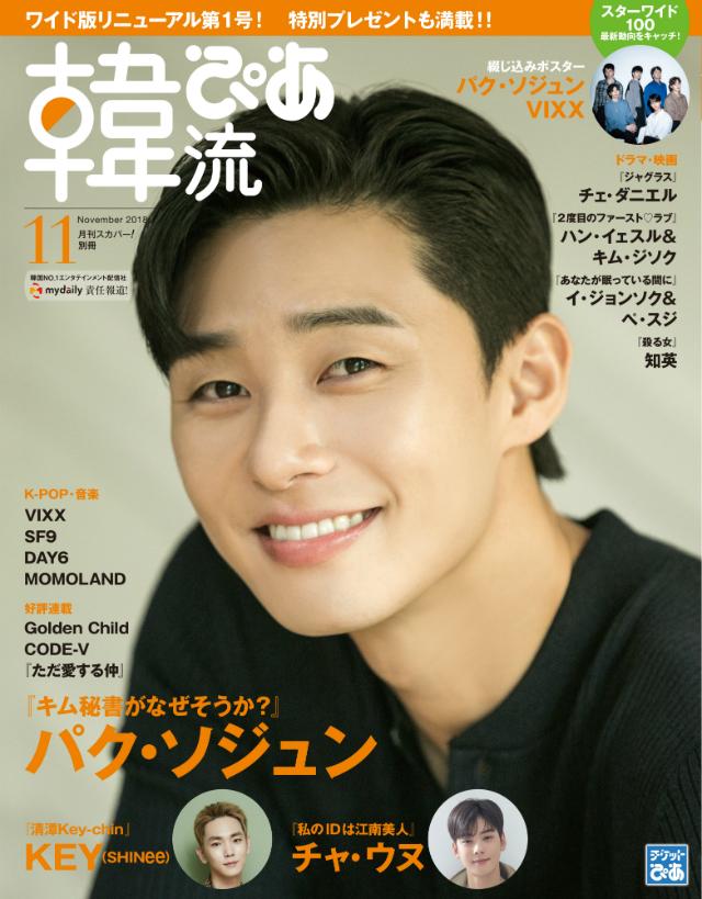 『韓流ぴあ』11月号表紙
