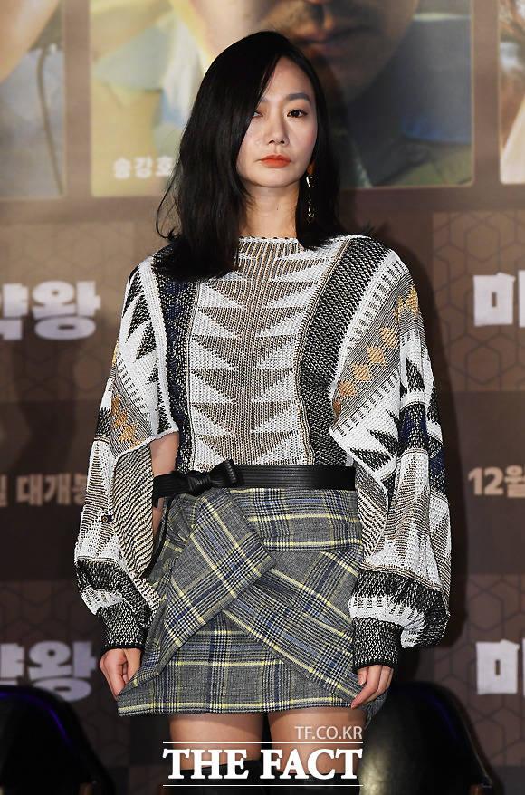 映画「麻薬王」の制作報告会見が19日、ソウルで行なわれた。女優ペ・ドゥナ。|撮影:イ・セロム