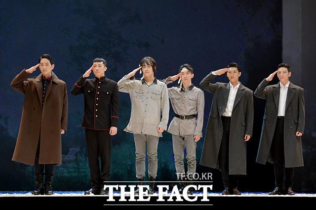 韓国の創作ミュージカル「新興武官学校」のプレスコールが5日、ソウルで行われた。|撮影:イ・ソナ