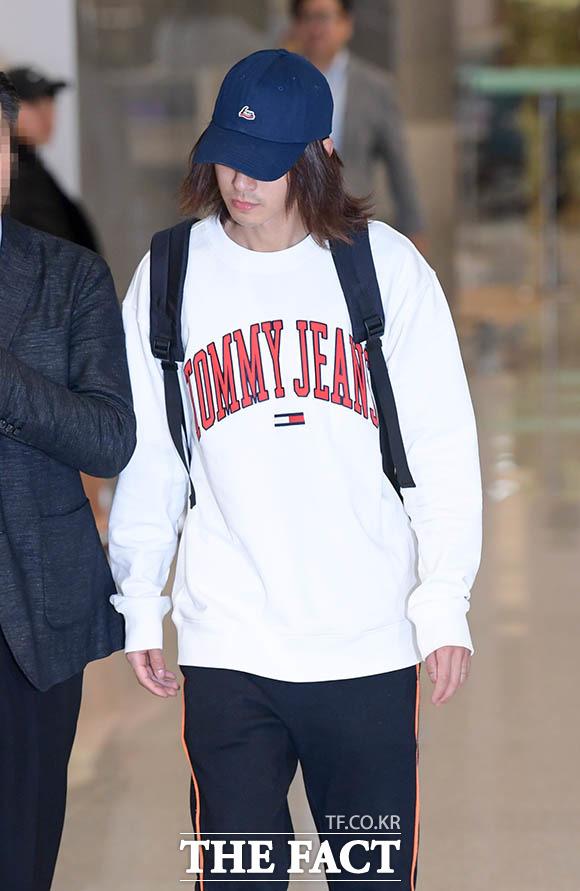 歌手のチョン・ジュニョンが12日午後、アメリカから帰国した。|撮影:キム・セジョン