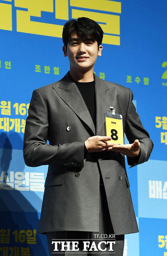韓国映画「陪審員たち」の制作発表会見が8日、ソウルで行われた。写真は同映画でクォン・ナム役を引き受けたパク・ヒョンシク。|撮影:イム・ヨンム