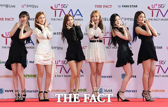 「U+5G THE FACT MUSIC AWARDS」(略:TMA)が24日、韓国・仁川にある南洞体育館にて開幕した。写真はガールズグループ(G)I-DLE。|撮影:THE FACT写真映像企画部