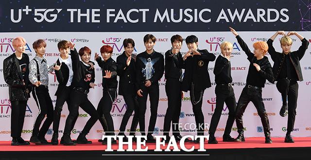 「U+5G THE FACT MUSIC AWARDS」(略:TMA)が24日、韓国・仁川にある南洞体育館にて開幕した。写真はボーイズグループTHE BOYZ。|撮影:THE FACT写真映像企画部