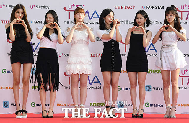 「U+5G THE FACT MUSIC AWARDS」(略:TMA)が24日、韓国・仁川にある南洞体育館にて開幕した。写真はガールズグループGFRIEND。|撮影:THE FACT写真映像企画部