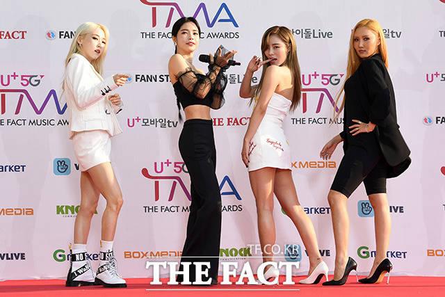 「U+5G THE FACT MUSIC AWARDS」(略:TMA)が24日、韓国・仁川にある南洞体育館にて開幕した。写真はガールズグループMAMAMOO。|撮影:THE FACT写真映像企画部