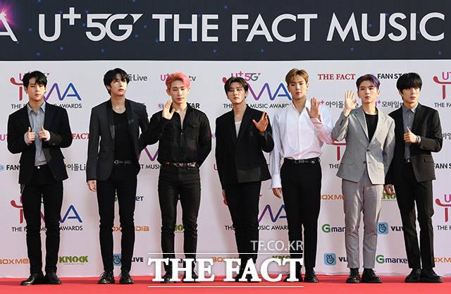 「U+5G THE FACT MUSIC AWARDS」(略:TMA)が24日、韓国・仁川にある南洞体育館にて開幕した。写真は男性アイドルグループMONSTA X。|撮影:THE FACT写真映像企画部