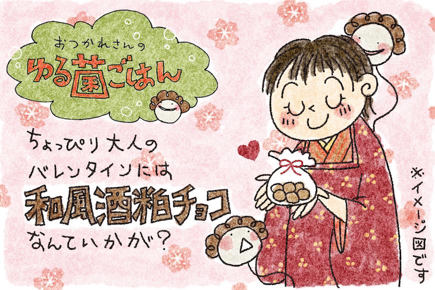 きな粉まみれの酒粕チョコでバレンタイン!