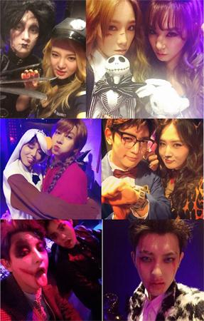 SMエンタテインメントに所属するスターたちのハロウィンパーティーが公開され、話題だ。(提供:OSEN)