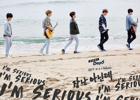 韓国男性バンド「DAY6」の4月のシングルが、iTunesアルバムチャートの4カ国で1位となり、海外での高い人気ぶりを立証した。(提供:OSEN)